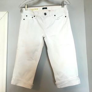 J Crew White Matchstick Cropped Jeans